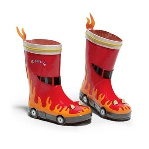 Kidorable Rain Boots-Fireman Natural Rubber NWT